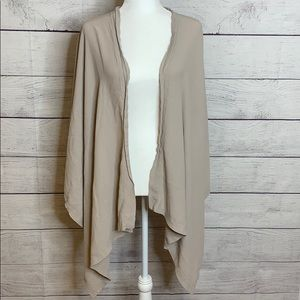 asos Open Front Asymmetrical Cardigan Sz 14 Nude